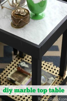 Need a side table that can be easily moved around? This DIY Marble Top Table is perfect for that and only costs $30 to make.  Via Rain on a Tin Roof and featuring Velvet Finishes!