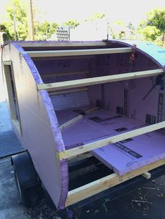 Picture of Begin Adding the Skin Auto Camping, Camping Trailer Diy, Van Camping, Small Camper Trailers, Cargo Trailer Camper, Small Campers, Cargo Trailers, Teardrop Trailer Plans, Building A Teardrop Trailer