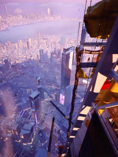 Mirrors Edge Catalyst, Mirror's Edge, Scenery Background, Electronic Art, Futuristic Technology, Anime Scenery, Game Concept Art, Aesthetic Art, Parkour