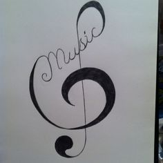 Music tattoo pattern