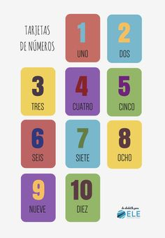 Numbers in Spanish class. ELE class numbers Cards – Numbers in Spanish Spanish for children Spanish Colors, Spanish 1, Spanish Lessons, Learn Spanish, Spanish Teacher, Teaching Spanish, Numbers, Learning, School