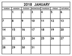 calendar 2018 word