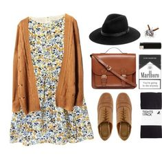 printed dress hat sweater oxfords