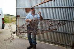 Metal Scrap Sculpture by Martiens Bekker, Port Isaac, Cornwall www.martiensbekker.co.uk