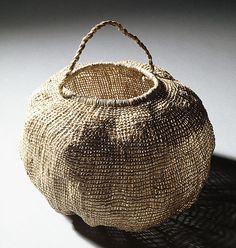 Lennah NEWSON Tasmanian Aboriginal people Australia 1940 – 2005 Basket [river reed] 2003 river reed without handle Sisal, Textiles, Basket Bag, Paper Basket, Weaving Art, Wabi Sabi, Basket Weaving, Woven Baskets, Textile Art
