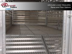 Ramp and Floor Options for Ground Load Livestock trailers