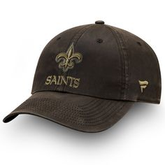 Men s New Orleans Saints NFL Pro Line by Fanatics Branded Brown Lux Wax  Fundamental Adjustable Hat 1b3712a82