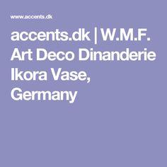 accents.dk | W.M.F. Art Deco Dinanderie Ikora Vase, Germany