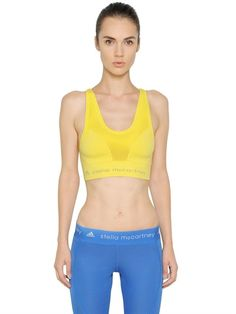 ADIDAS BY STELLA MCCARTNEY - PERFORMANCE MICROFIBER SPORTS BRA TOP - LUISAVIAROMA - LUXURY SHOPPING WORLDWIDE SHIPPING - FLORENCE