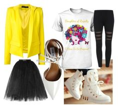 Hello Yellow by fashionedtoreign on Polyvore featuring polyvore, fashion, style, Alexandre Vauthier, Ballet Beautiful, Steve Madden and clothing