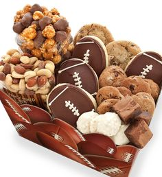 Football Snack Box - The best of both worlds, mix their love for the sport with some good tastin' snacks.