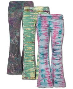 Ocean beauty is eye-catching, the siren song mesmerizing: NEW! Siren Tie-Dye Pants #fairtrade