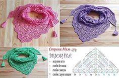 Exceptional Stitches Make a Crochet Hat Ideas. Extraordinary Stitches Make a Crochet Hat Ideas. Crochet Shawls And Wraps, Knitted Shawls, Crochet Scarves, Crochet Clothes, Pull Crochet, Love Crochet, Knit Crochet, Crochet Chart, Crochet Stitches