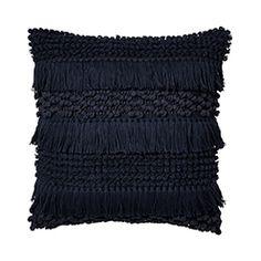 Home Republic - Axel Indigo Cushion Large Floor Cushions, Lounge Cushions, Green Cushions, Velvet Cushions, Outdoor Cushions, Mustard Cushions, Mustard Bedding, Beige Bed Linen, Toddler Girl Bedding Sets