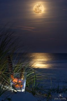 awesome images: Wayfarer on a Wolf Moon. January moonrise from Hilton Head Island, South Carolina.Destination: the World