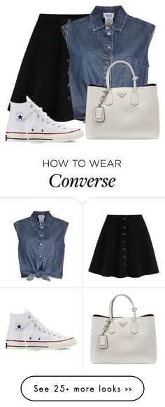 """""""Untitled #1262"""" by directioner-123-ii on Polyvore featuring Jean-Paul Gaultier, Converse, Prada and FFfatifashion"""