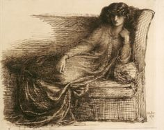 Dante Gabriel Rossetti - Jane Morris, Pen and iron gall ink with brown wash on laid paper; laid down on paperboard. William Morris, Jenny Morris, Christina Rossetti, Pre Raphaelite Brotherhood, Dante Gabriel Rossetti, Art And Craft, National Gallery Of Art, Art Gallery, Victorian Art
