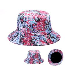 75e63c442c9 Men Women Mapple Leaves Printed Bucket Hat Sun Cap Fishing Fisherman hat  Goldtop  Goldtop  Bucket