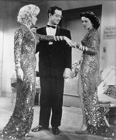 """Marilyn Monroe, Tommy Noonan and Jane Russell, """"Gentlemen Prefer Blondes"""", 1953."""