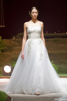 david fielden 2015 bridal 8307 wedding dress 8307 strapless ball gown