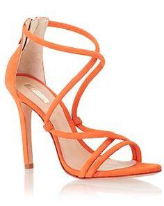 Isabel Pointed Stiletto Court Heels Burnt Orange - Courts