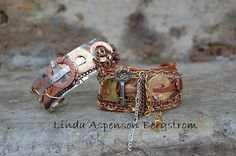This super fun tutorial will guide you through making a fantastic steam punk or industrial...or just mixed metal.......bracelets! Add tons of not
