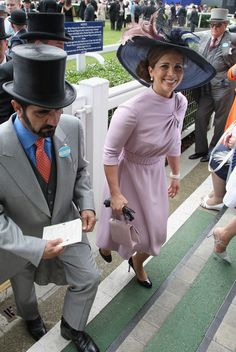 zimbio:  Prince Mohammed and Princess Haya Bint Al Hussein HRH Princess Haya Bint Al Hussein leave the parade ring on day four of Royal Ascot 2009 at Ascot Racecourse on June 19, 2009 in Ascot, England.