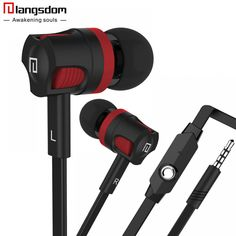 Langsdom In-Ear Headset with Mic Earbuds Super Bass Earphones For Mobile Phone Fone De Ouvido Auriculares Audifonos Mobile Phone Logo, Best Mobile Phone, Mobile Phone Repair, Mobile Phones, In Ear Headset, Wireless Headset, Noise Cancelling Headphones, In Ear Headphones, First Iphone