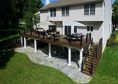 This project is a prime example of maximizing usable space to get the most out of your backyard. Serving multiple functions; the deck is a perfect area to
