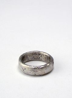 """""""Worn"""" by Branch. A great piece for a unique wedding band."""