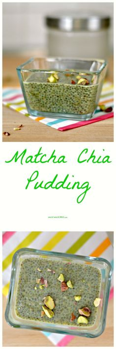 Matcha Chia Pudding   WIN-WINFOOD.com Energy boosting matcha chia pudding is exactly what you need if you feel like that extra kick in the morning. #cleaneating #sugarfree #paleo #raw #vegan #healthy