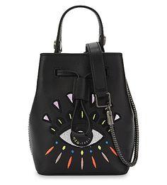 0a3b39ede24 KENZO Eye Mini Leather Bucket Bag. #kenzo #bags #shoulder bags #leather # bucket #