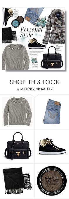 """""""Hijab"""" by sans-moderation ❤ liked on Polyvore featuring mode, American Eagle Outfitters, J.Crew, Hollister Co., Alexander McQueen, Love Moschino, New Directions, MAKE UP FOR EVER en hijab"""
