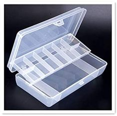 Toasis Fishing lure storage container Organizer Fishing Tackle Clear Plastic Box