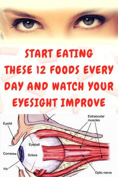 START EATING THESE 12 FOODS EVERY DAY AND WATCH YOUR EYESIGHT IMPROVE