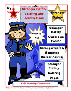 """This fun stranger safety packet is packed full of different learning """"word work""""… Word Work Activities, Classroom Activities, Learning Activities, Teaching Ideas, Character Education, Career Education, Teaching Career, School Resources, Teacher Resources"""