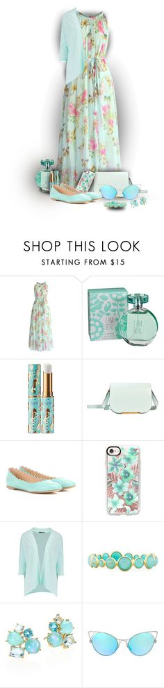 """Wear It in a Slip Dress and sea!!!"" by sarahguo ❤ liked on Polyvore featuring Trilogy, Chicwish, maurices, tarte, Lancel, Chloé, Casetify, Boohoo and Ippolita"