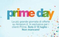 Prime Day Amazon: domani una grande giornata di offerte riservata ai clienti Prime, attiva la prova gratuita! A partire dalla mezzanotte per i clienti Amazon Prime ci saranno una serie di offerte vantaggiose su numerosi prodotti: per approfittare del Prime Day puoi iscriverti alla prova gratuita di Amazon Pr #amazon #prime #primeday #amazonprime