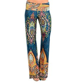 Loving this Teal & Orange Paisley Palazzo Pants on #zulily! #zulilyfinds