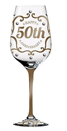 Golden Wedding Anniversary Keepsake HandPainted Wineglass *** Check out the image by visiting the link.