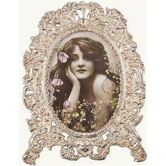 Floral Angels Picture Frame ($50) ❤ liked on Polyvore featuring home, home decor, frames, floral picture frames, floral home decor and floral frames
