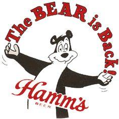"HAMM'S BEER - ""THE BEAR IS BACK""  T-SHIRT SMALL-XXXLARGE (F)"
