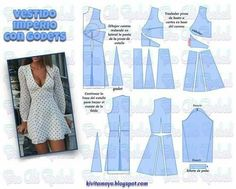 Wonderful Photo of Crop Top Sewing Pattern Sewing Dress, Dress Sewing Patterns, Diy Dress, Clothing Patterns, Pattern Dress, Fashion Sewing, Diy Fashion, Fashion Outfits, Fashion Ideas