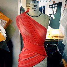 gillesmendelSpring 15 draping in the atelier today... #handpleated #JMendel #OMGilles