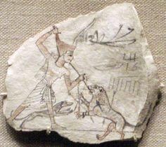 Ostracon from Ramesseid period XIX - XX dynasty