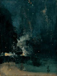 Nocturne in Black and Gold (The Falling Rocket) // Whistler