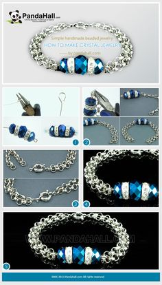 This how to make crystal jewelry tutorial includes merely two basic skills that are often applied in handmade beaded jewelry, which is exactly suitable for beginners.