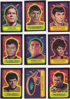Vintage Star Trek cards.