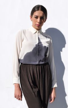 Anaïse / Correll Correll Stain Horizon Shirt- silk dip dyed