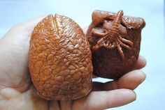 Two Large Handmade ALIEN EGG Soap – Parody Predator, Alien, Arnie, Dutch, Novelty